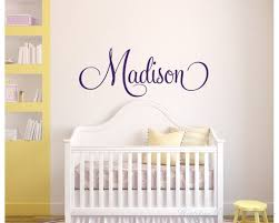 baby nursery baby girl nursery wall decals personalised childrens name wall decal girls name