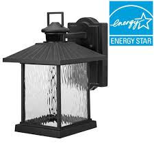 modern outdoor sconces. Lumsden Outdoor Black LED Motion Sensor Wall Mount Lantern Modern Sconces .