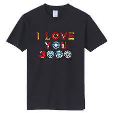 Us 10 03 25 Off Tjwlkj I Love You 3000 Cotton T Shirts Marvel Iron Man Funny T Shirt Print Avengers Tshirt Men Cloth 2019 Summer 11 Colors In