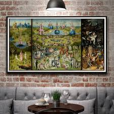 bosch the garden of earthly delights. Artwork Painting The Garden Of Earthly Delights Hieronymus Bosch Silk Poster Decor 12x23 14x27 18x35 24x46 Inch Free Shipping-in \u0026 Calligraphy From