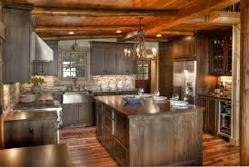 cabin kitchen design. Wonderful Cabin Stylish Ideas Cabin Kitchen Design Rustic With Lighting Log Intended