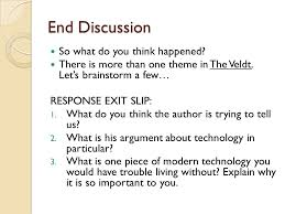 the veldt written by ray bradbury ppt video online  9 end discussion