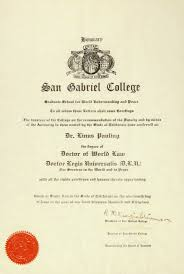 san gabriel college diploma honorary doctor of world law  certificate