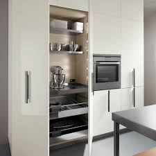 ... Kitchen Storage Cabinet Kitchen Pantry Cabinet Ikea Silver Plates Bowls  Utensils In White Tall ...