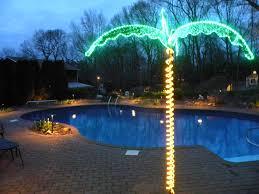 Lighting Around Pool Deck Tree Patio Backyard Lighting Solar Flame Lights Outdoor