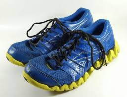 reebok zigtech mens. men\u0027s reebok zigtech shark blue/neon green athletic running workout shoes (sz 7) mens e