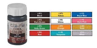Eco Flo Dye Color Chart 6 00 Tandy Leather Paint 2602 10 Eco Flo Cova Color 2