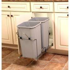 Plastic Kitchen Cabinet Inspiration Plastic Pull Out Trash Cans Kitchen Cabinet Organizers The