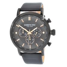 kenneth cole kc50502004 mens classic black leather band watch 0