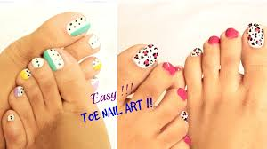 Art Designs 2 Easy And Quick Toe Nail Art Designs Tutorial Youtube