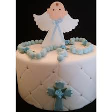 Angel And Rosary Cake Decorations Baptism Cake Topper First