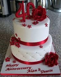 40th Wedding Anniversary Cake Ideas Ruby Wedding Cakes Wedding