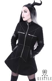 black winter jacket with pockets detachable hood wool geometry coat