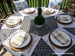 Table Setting For Breakfast Calypso In The Country Fathers Day Table Setting