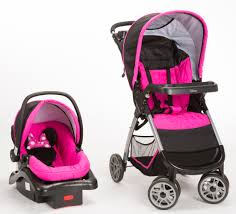 minnie mouse pop stroller and car seat travel system