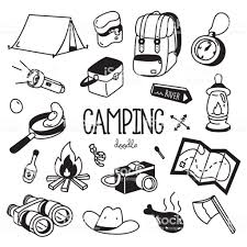 Camping Doodle Hand Drawing Styles Camping Items Stock Illustration Download Image Now