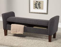 grey tufted storage bench. Bedroom Blue Leather Bench Indoor Storage Grey Padded Tufted L