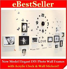 new model diy photo wall clock frame home decoration