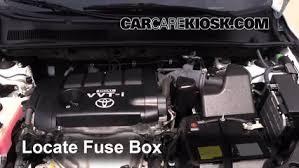 blown fuse check 2006 2012 toyota rav4 2009 toyota rav4 2 5l 4 cyl locate engine fuse box and remove cover