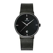 mens talking watches promotion shop for promotional mens talking wwoor fashion brand watch men stainless steel black mesh strap quartz watch ultra thin dial clock men s watches waterproof