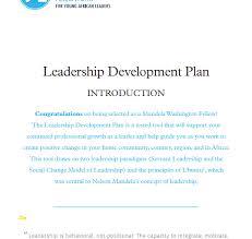 Leadership Development Plan Template Lovely Personal Leadership