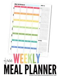 Weekly Meal Planner Plan A Weeks Meals Free Printable