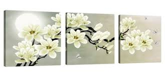 white magnolia flower wall art picture print canvas framed home hang decor gift on magnolia canvas wall art with 3pcs wall art print canvas framed picture white magnolia flower home