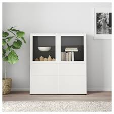 Ikea Bestå Storage Combination Wglass Doors Black Brown