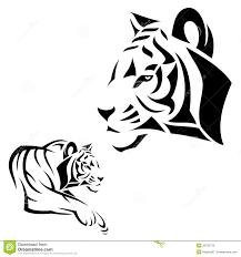 татуировка тигра иллюстрация вектора иллюстрации насчитывающей кот