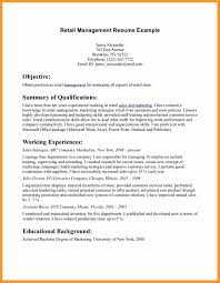resume opening statement retail cipanewsletter 8 resume objectives for retail itemplated
