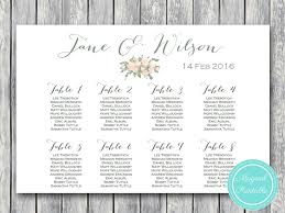 Custom Wedding Seating Chart Printable Wd11 Seating Chart