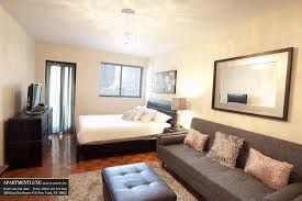 One Bedroom Apartment Living Room Impressive Manhattan One Bedroom Apartments With Sofa Style