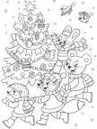Раскраска новый год для детей 2017