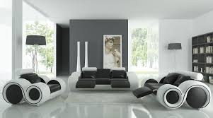 unique black and white furniture for modern living room make it seems so modern and luxury black and white furniture
