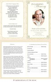 Princess Funeral Program Template Leaflet Free Editable
