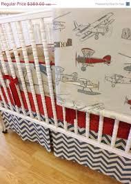 baby boy nursery vintage airplane crib