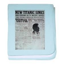 1800 Newspaper Template New Titanic Sinks Baby Blanket
