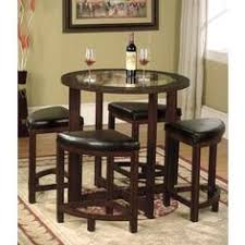 for copper grove sonfjallet solid wood round dining set in dark brown with gl top table settingssmall kitchen