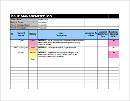 Issue Tracking Template Excel Microsoft Bug Log Template Magdalene Project Org