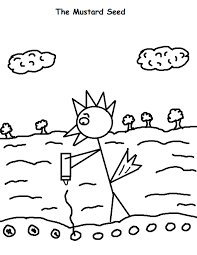 The Mustard Seed Coloring Page Jpg