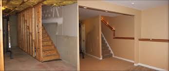 Finished Basement Ideas Before And After And Finished Basements