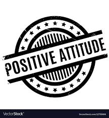 Attitude Design Positive Attitude Rubber Stamp