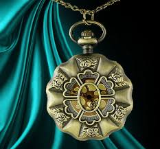 details about unusual gift for her pocket watch necklace roses goth womens presents rare love