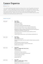 Cook Resume Examples Simple Sous Chef Resume Samples VisualCV Resume Samples Database