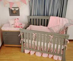 pink baby furniture. pink and charcoal grey crib bedding in the nursery pinterest gray babies baby furniture o