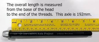 Qr Bike Size Chart How To Measure Bicycle Thru Axles Modern Bike