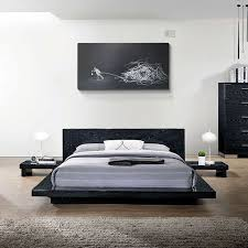Contemporary Low Profile Bed Frame
