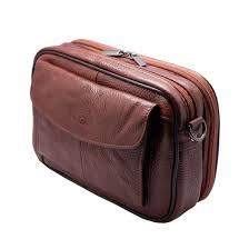 mens messenger bag tan brown cowhide leather handbag
