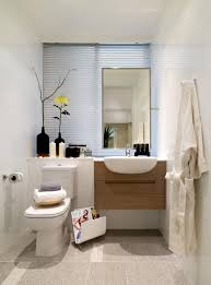 Tranquil Bathroom Tranquil Tiny Bathroom With Wood Floating Sink And Rectangular