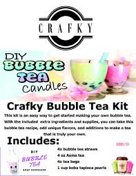 entry 33 for crafky bubble tea kit instruction flyer